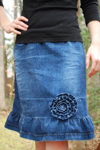 Flirty Denim Skirt