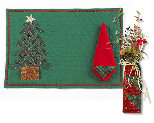 Applique Christmas Placemat and Napkin from Brother