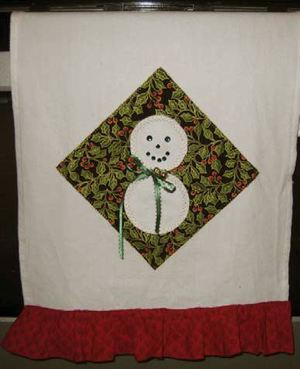 Snowman Holiday Towel