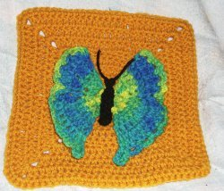 Crochet Butterfly Square