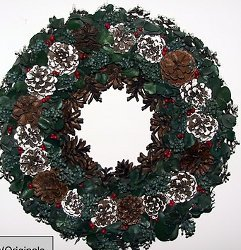 Make a Pine Cone Wreath