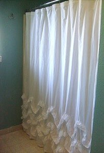 DIY Waves of Ruffles Shower Curtain