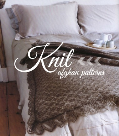 20 Knit Afghan Patterns