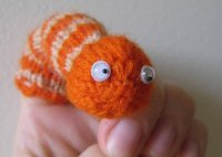 Smiley The Worm Finger Puppet