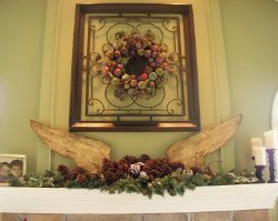 Angel Wing Christmas Mantel