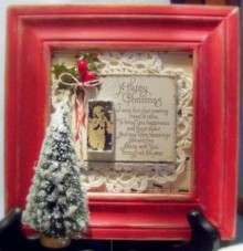 Old Fashioned Gift Ideas. Happy Christmas Frame