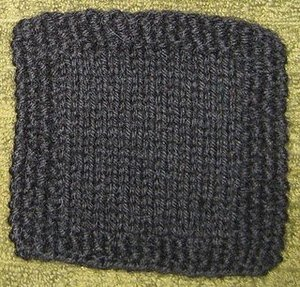 Simple Seed Stitch Coaster