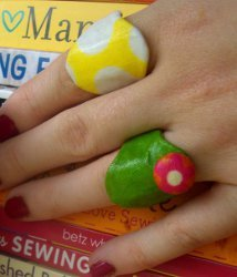Bold Fabric Rings