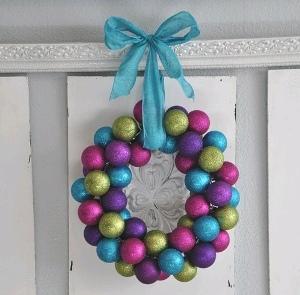 Dollar Store Ornament Wreath | FaveCrafts.com