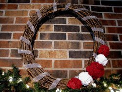 Christmas Rosette Wreath