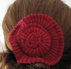 Sweater Hair Clippies