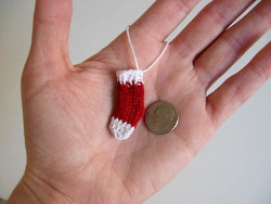 Double Knit Mini Christmas Stocking Ornament