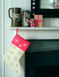 Super Easy Snowflake Stocking