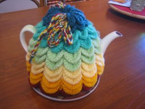 Scallop Tea Cozy