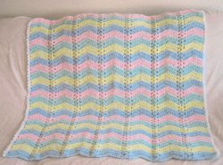 Pastel Single Shell Ripple Afghan