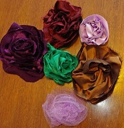 Bias Fabric Flowers Tutorial