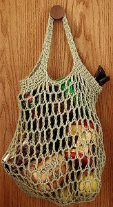 Reusable Crocheted Grocery Bag