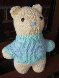 One-Seam Teddy Bear
