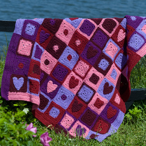 Valentine Hearts Afghan