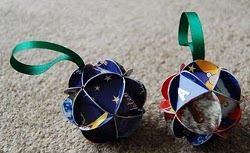 Recycled Card Ornaments
