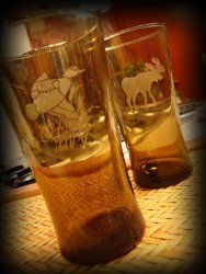 Rustic Etched Drinking Glasses