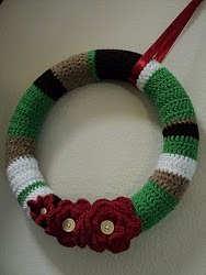 Jennifer's Crochet Christmas Wreath