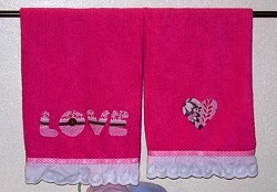 Valentine's Bathroom Towels