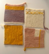 Four Felted Hot Pads