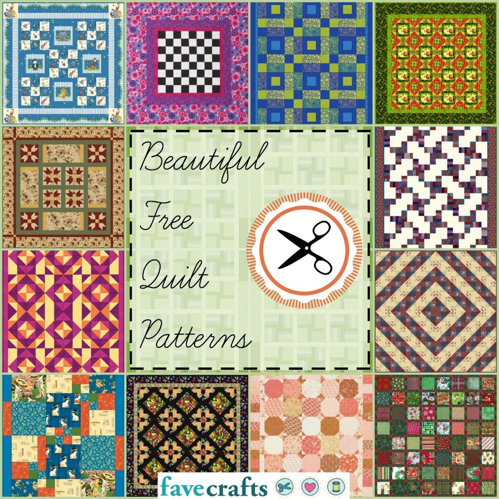 38 free quilt patterns for Quilting templates free