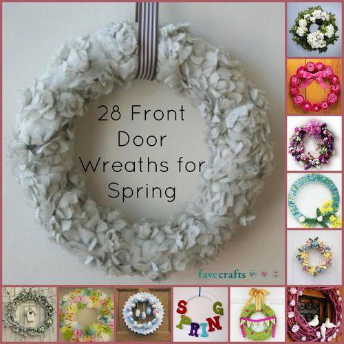 12 Decorative Front Door Wreaths for Spring  FaveCrafts.com