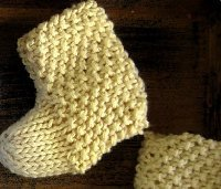 Seed Stitch Baby Booties