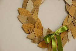 Super Simple Coffee Cardboard Recycled Wreath