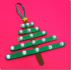 Craft Stick Christmas Tree Ornament