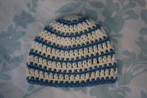 Thick and Thin Striped Beanie