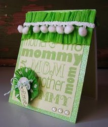 Green Embellished Mothers Day Card