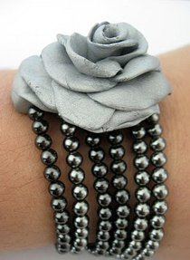 Clay Rose Multistrand Bracelet