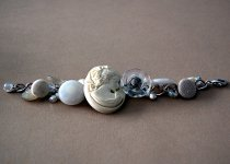 Bead and Button Bracelet
