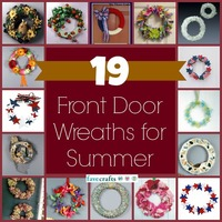 19 Summer Front Door Wreaths to Make