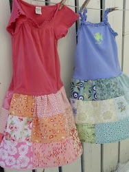 Outgrown Shirts and Patchwork Skirts