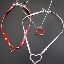 Valentine's Beaded Heart Jewelry
