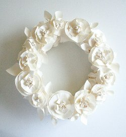 Butcher Paper Spring Wreath