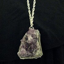 Wire Wrap Geode Necklace