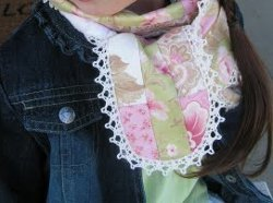Little Girl's Lacy Honey Bun Scarf