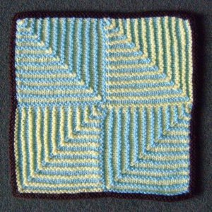Knitting Patterns For Mitered Squares : Mitred Squares AllFreeKnitting.com