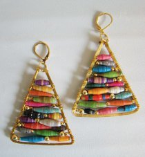 Anthropologie Knockoff Wire Triangle Earrings
