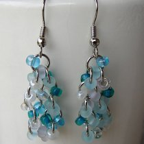 Bead and Chain Dangle Earrings