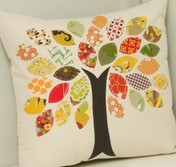 Fall Trees Applique Stashbuster Pillow