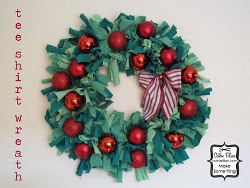 Festive Wreath From Old Tees