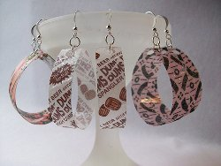 Recycled Bottle Loop Earrings