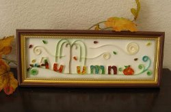 Quilled Autumn Sign